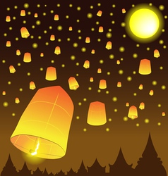 Thai Lanna Fire Balloons vector