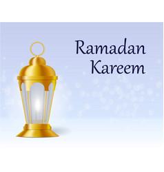 the inscription on the card is ramadan kareem vector image