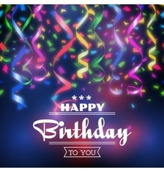 Typographic happy birthday background vector