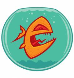 Vicious pet goldfish vector