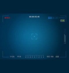 video camera viewfinder template vector image