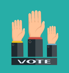 voting in elections vector image