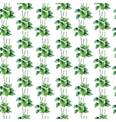 Watercolor plantain herbs seamless pattern vector image