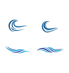 wave symbol design vector image