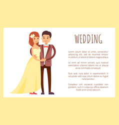 Wedding man and loved woman vector