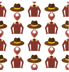 wild west cowboy cloth rodeo equipment different vector image