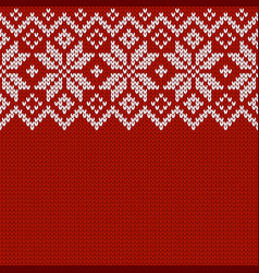 Winter knitted wool sweater pattern vector