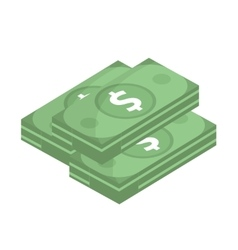Dollar icon flat design Money dollars isolated vector image
