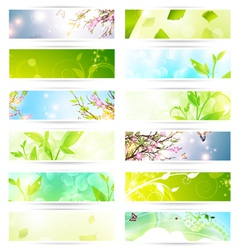 eco banner set vector image vector image