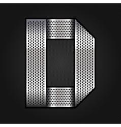 Letter metal chrome ribbon - D vector image vector image