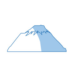 Mountain snow peak natural shadow image vector
