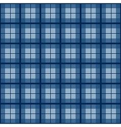 Navy Blue Tartan Background vector image