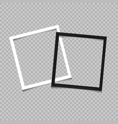paper and wooden square frame vector image vector image