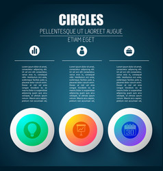 pictogram app circles background vector image vector image