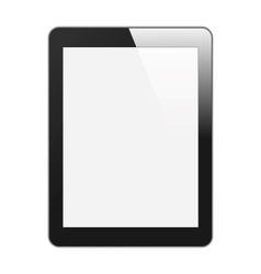 Realistic Tablet PC With Blank Screen Vertical vector image vector image