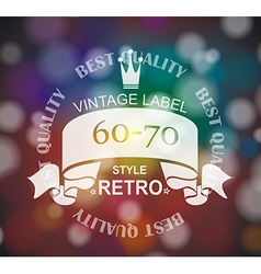 retro label with ribbon and crown vector image vector image