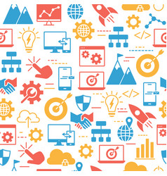 seamless pattern with hosting server database vector image