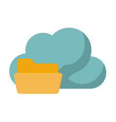 cloud storage related icon image vector image