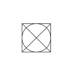 do not tumble dry washing laundry symbol line vector image