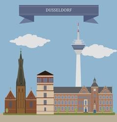 Dusseldorf vector image