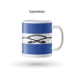 Gazankulu flag souvenir mug on white background vector image vector image