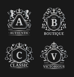 monogram logo templates luxury letters vector image