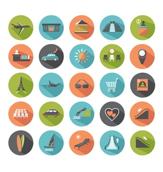Set of modern flat icons vector image