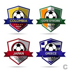 Set of soccer football badge vector image vector image