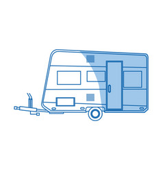 Trailer camping vehicle home transport vector