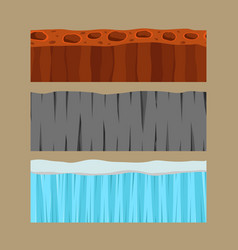 Cross section ground slice isolated some piece vector