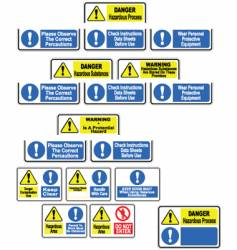 hazardous material signs vector image