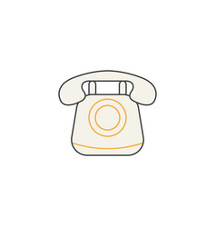 old phone line icon vintage call social media vector image