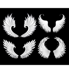 Set of white wings vector