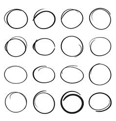 Hand drawn scribble circles vector image