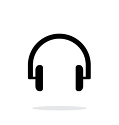Headphones icon on white background vector image vector image