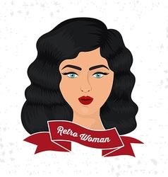 Retro Woman design vector image