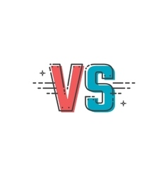 Versus letters logo vector image vector image
