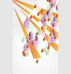 abstract decorative still life with fruits the vector image