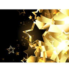 Abstract golden background with stars vector