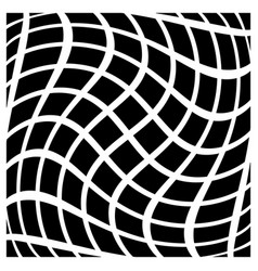 Abstract grid with twisting distortion art vector