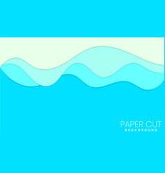 abstract paper wave layer cut background vector image
