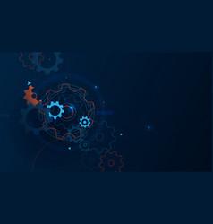 abstract technology futuristic digital hi tech vector image
