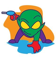 Alien Bring a Gun vector