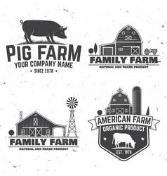 american farm badge or label vector image