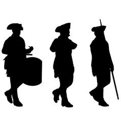 american revolutionary war soldiers marching vector image