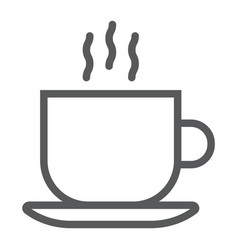 americano line icon coffee and cafe hot vector image