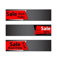 Black friday sale Web banners vector image