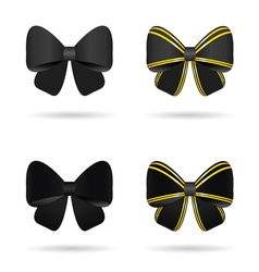 bow in black and gold vector image