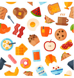 Breakfast food healthy icons meal and vector