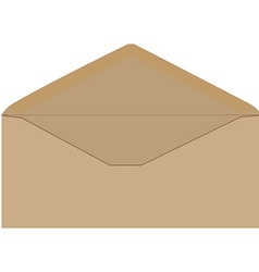 Brown envelope vector image